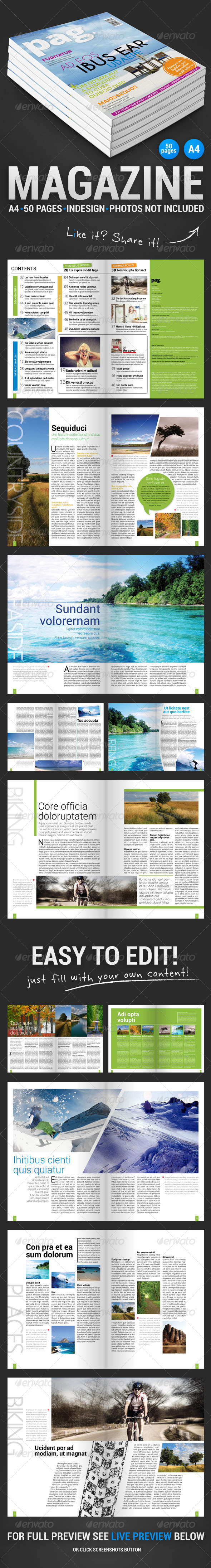 Pag 50 Pages Magazine - Magazines Print Templates