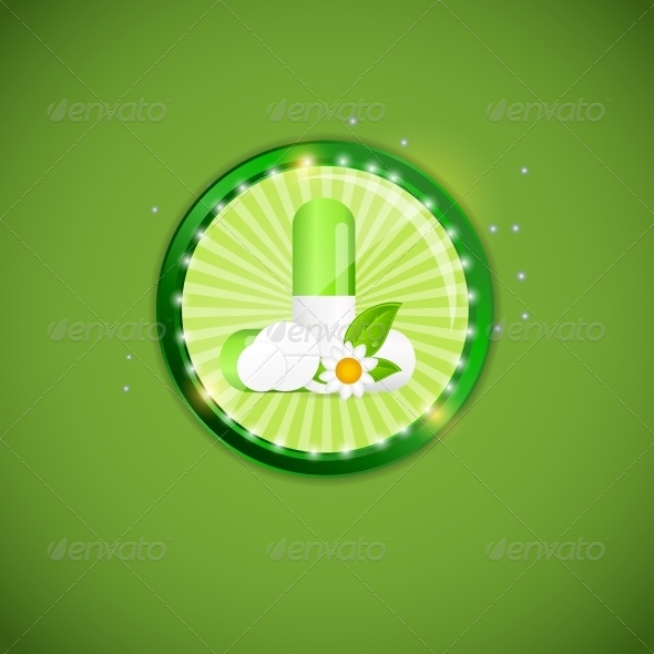 Herbal Pill Environment Background - Health/Medicine Conceptual