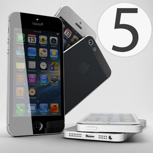 Apple iPhone 5 - 3DOcean Item for Sale