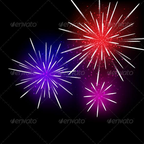Fireworks Background - Seasons/Holidays Conceptual