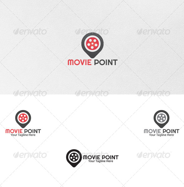 Movie Point - Logo Template - Vector Abstract