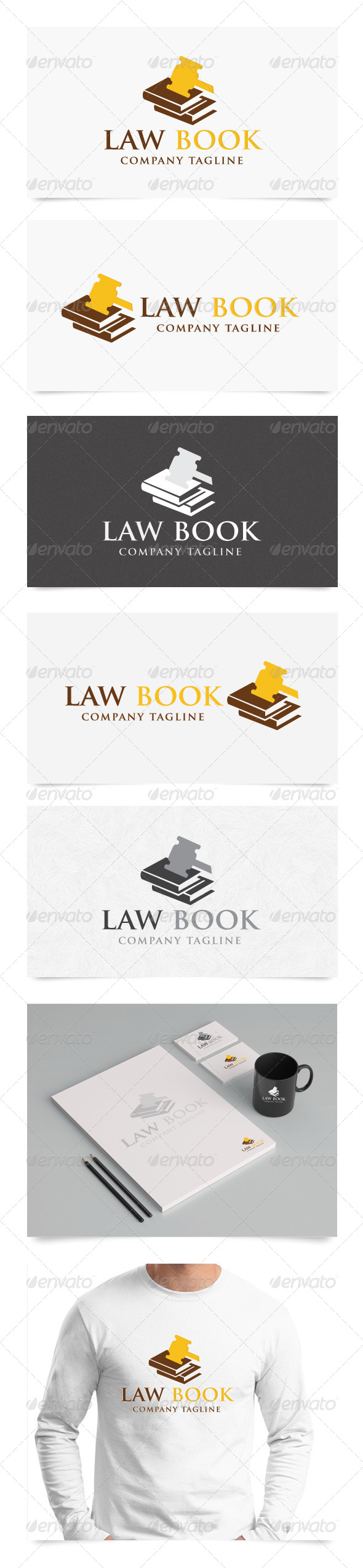 Law Book - Objects Logo Templates