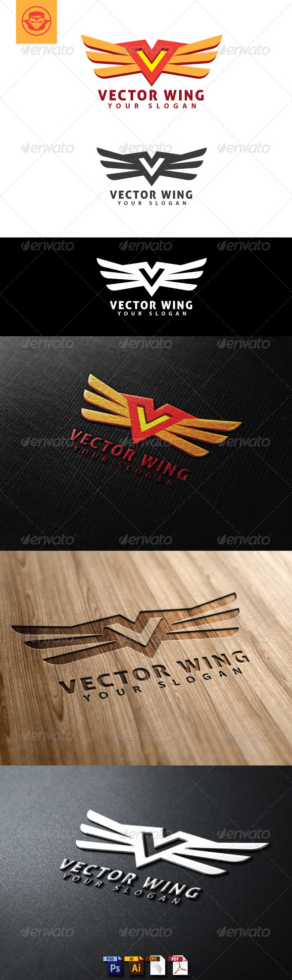 Vector Wing Logo Template - Letters Logo Templates