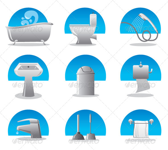 Bathroom & Toilet Set - Man-made objects Objects