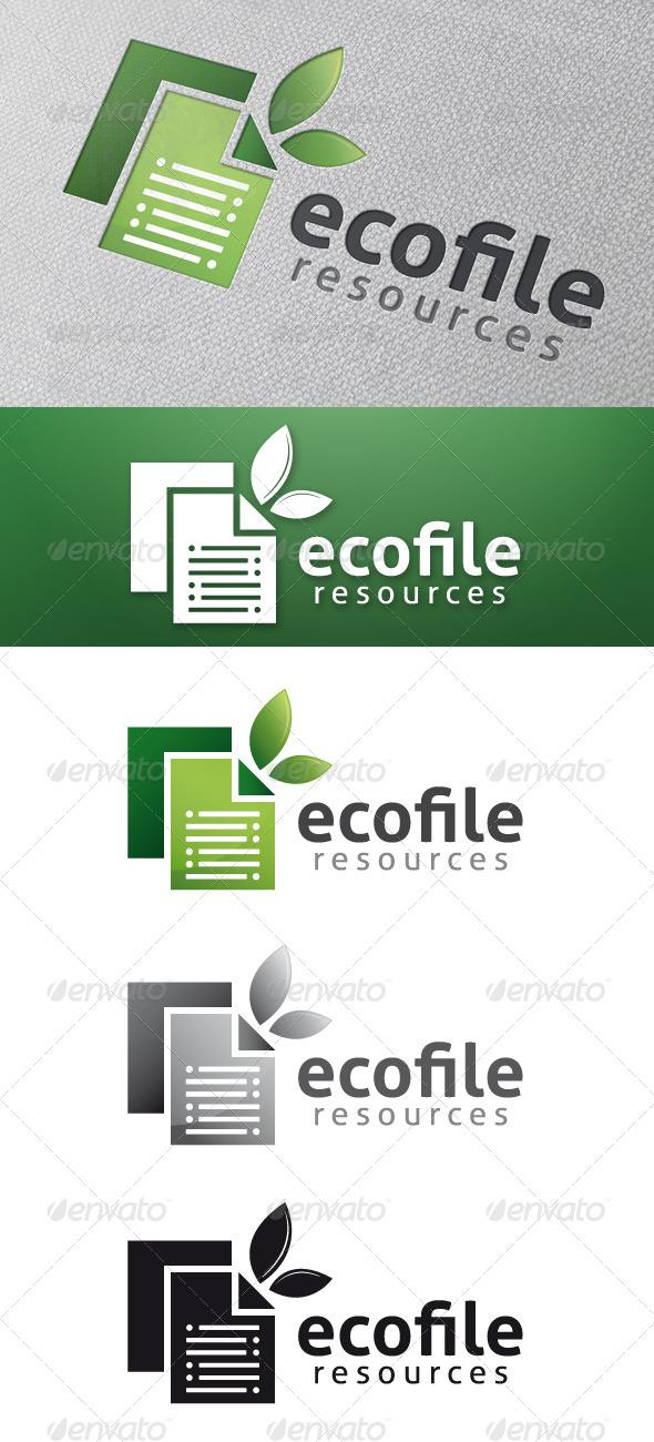 Eco File Logo Template - Nature Logo Templates