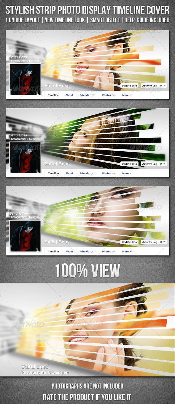 Stylish Strip Photo Display FB Timeline Cover - Facebook Timeline Covers Social Media