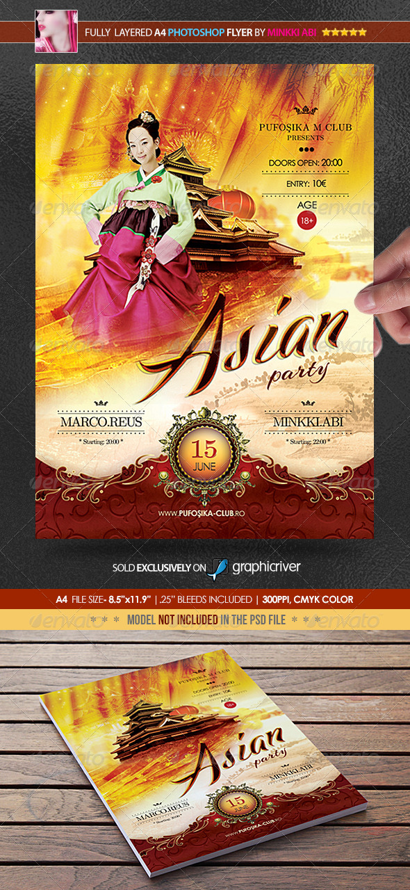 Asian Party Poster/Flyer - Events Flyers