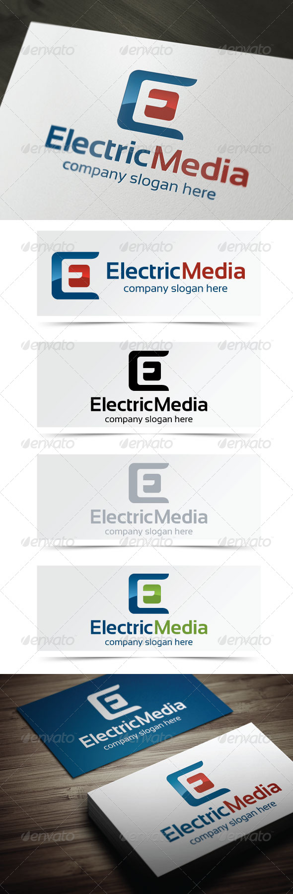 Electric Media - Letters Logo Templates