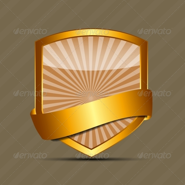 Vector Gold Sign Label Template - Concepts Business