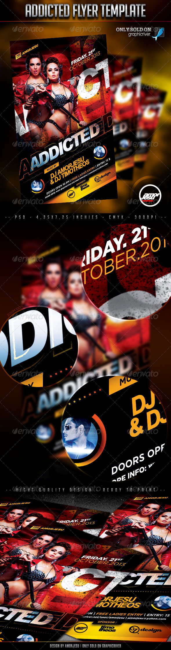 Addicted Flyer Template - Clubs & Parties Events