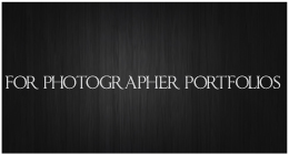 For Photographer Portfolios