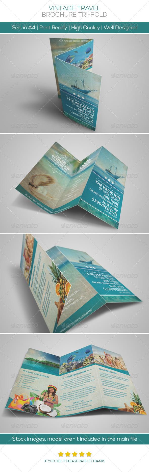 Vintage Travel Brochure Tri-fold - Informational Brochures