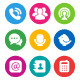 Color Communication Icons - GraphicRiver Item for Sale