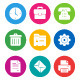 Color Office Icons - GraphicRiver Item for Sale