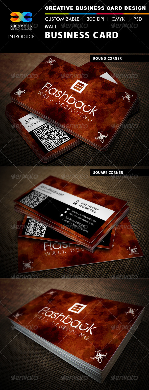 Wall Business Card - Corporate Business Cards