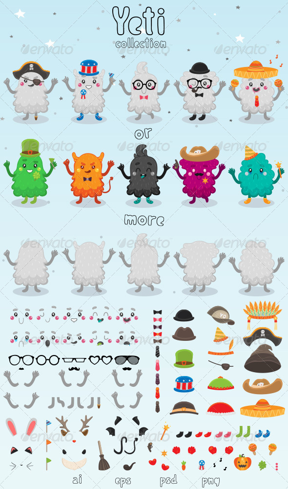 Yeti Collection - Monsters Characters