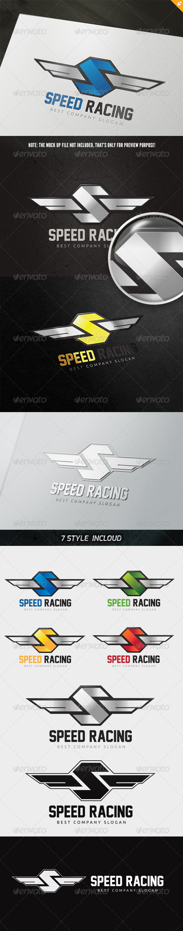 Speed Racing Logo - 3d Abstract