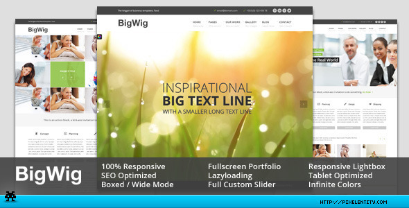 BigWig – Modern Corporate HTML5 Template