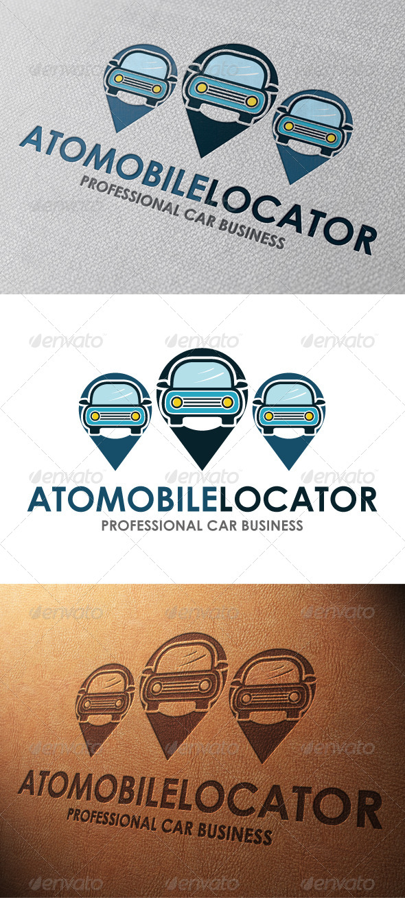 Car Locator Logo Template - Objects Logo Templates