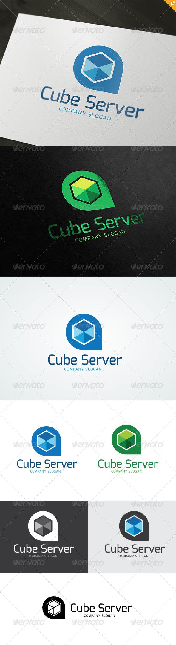 Cube Server Logo - Buildings Logo Templates