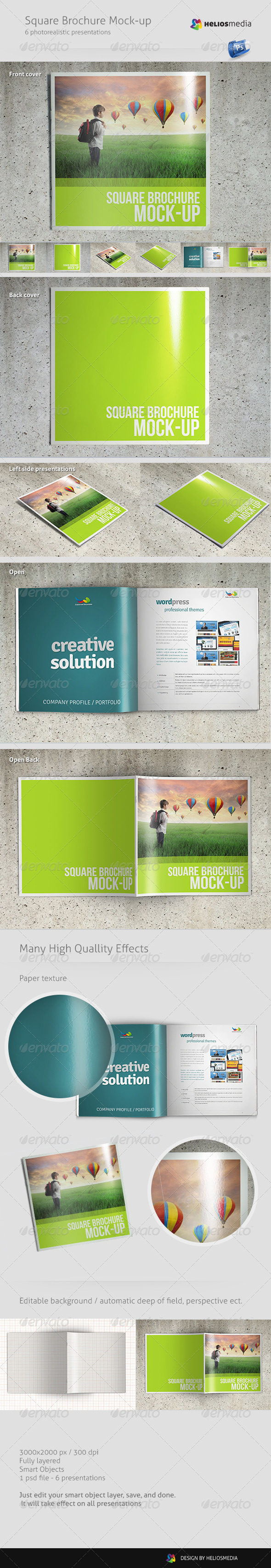 Square Brochure Mock-up - Brochures Print