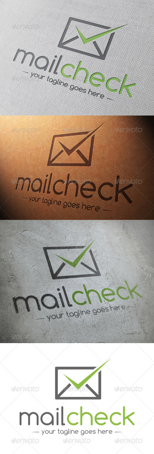 Mail Tick Check Mark Logo Template - Objects Logo Templates