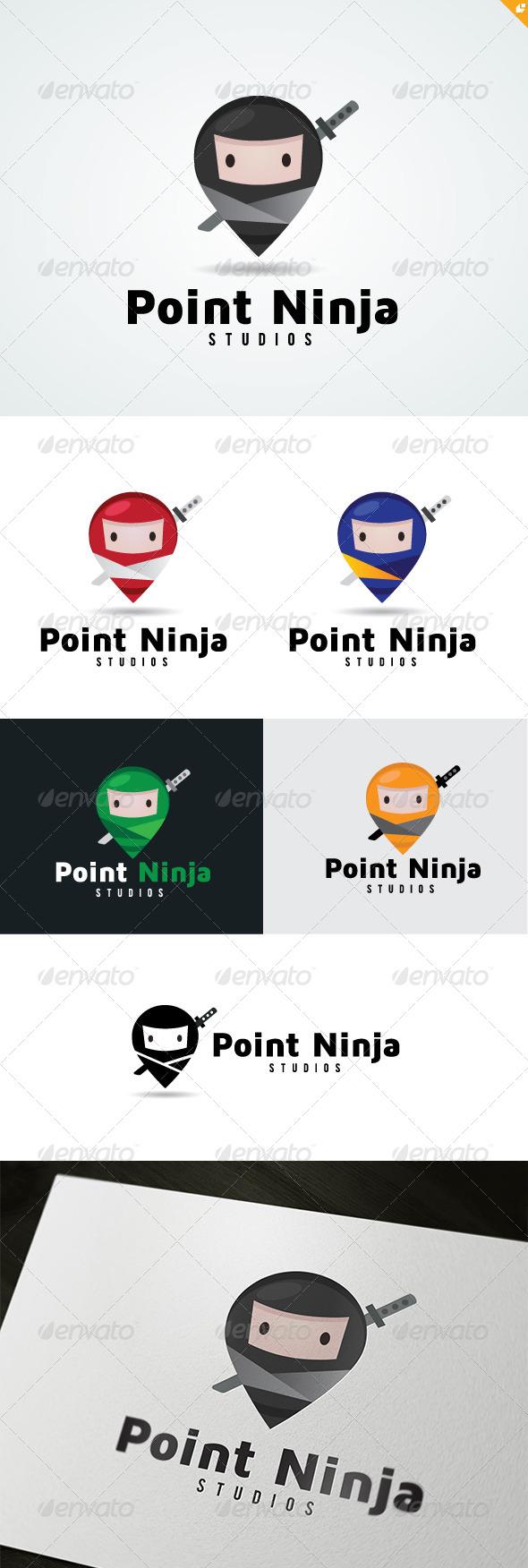 Point Ninja Logo - 3d Abstract