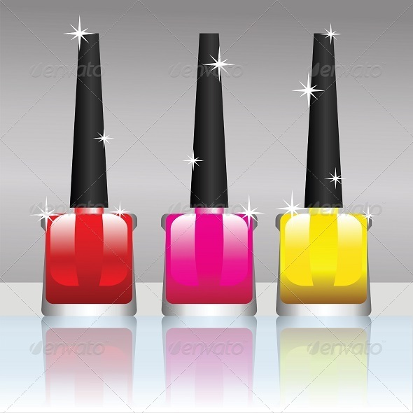 nail polish bottle - Miscellaneous Vectors