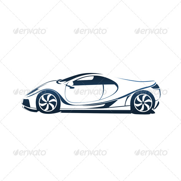 Speedy Racing Sport Car - Man-made Objects Objects