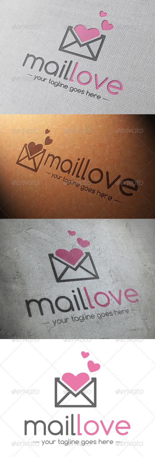 Mail Love Logo Template - Symbols Logo Templates