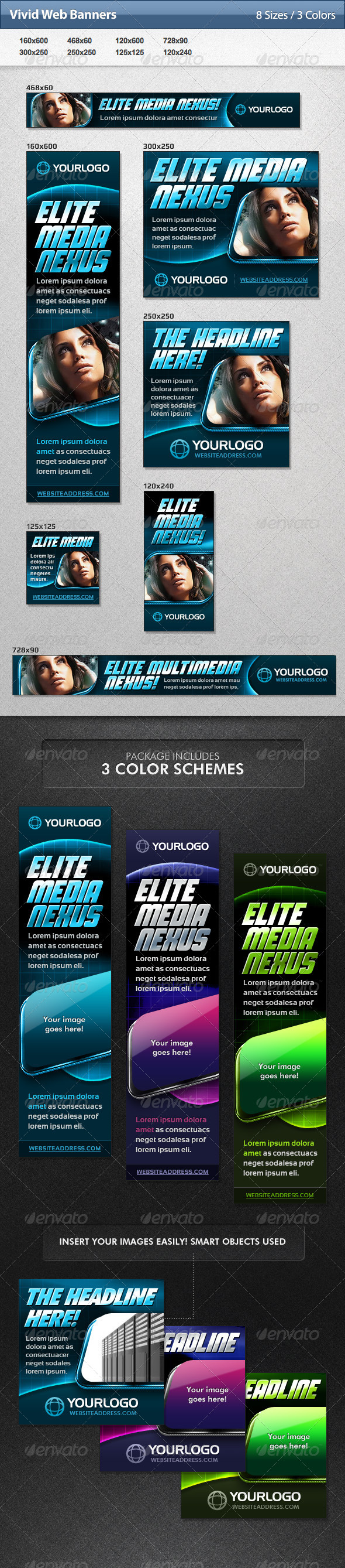 Vivid Web Banners - Banners & Ads Web Elements