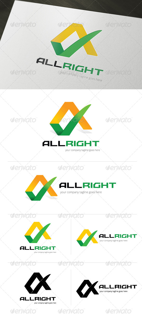 All Right Logo Template - Letters Logo Templates