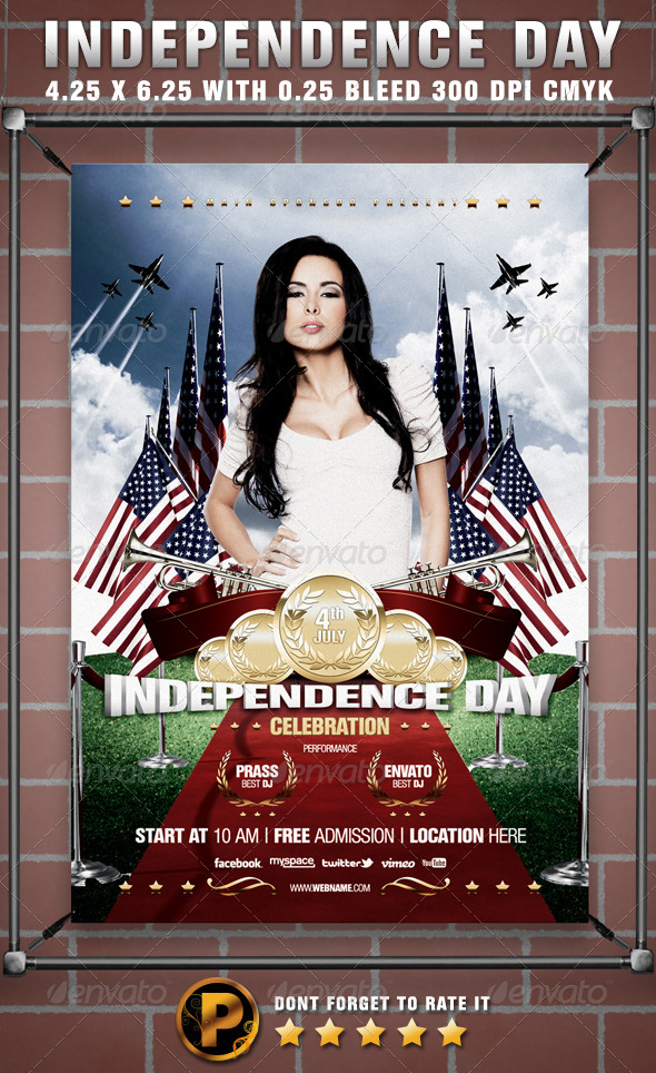 Independence Day Celebration Flyer Template - Events Flyers