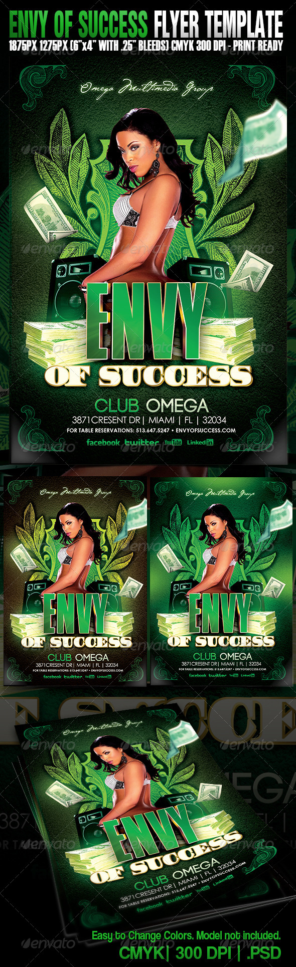 Envy of Success - Events Flyers