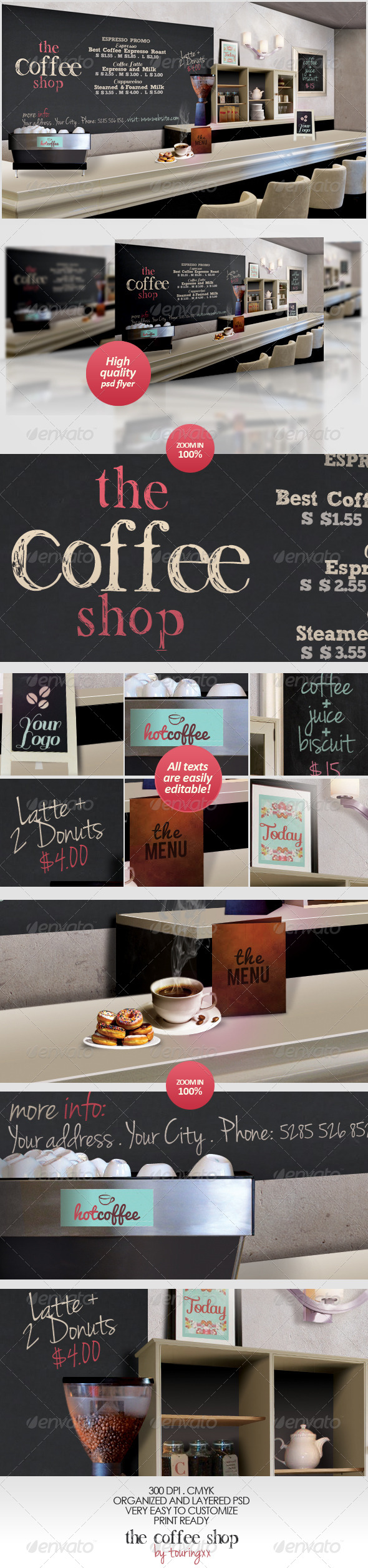 The Coffee Shop Flyer Template - Flyers Print Templates