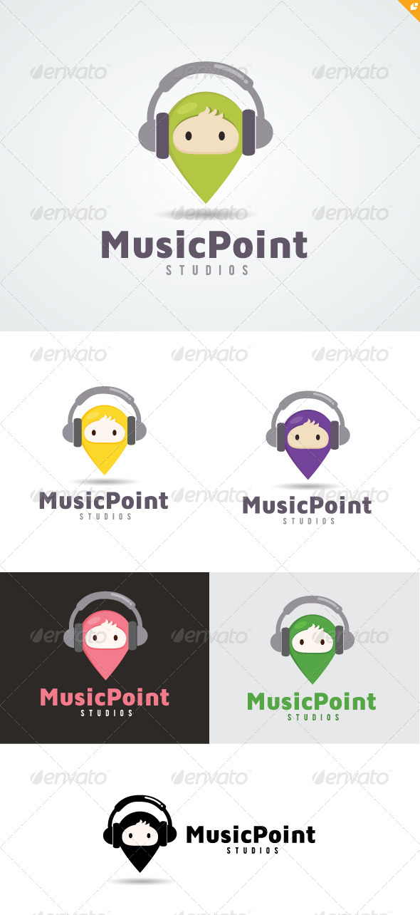 Music Point Logo - Buildings Logo Templates