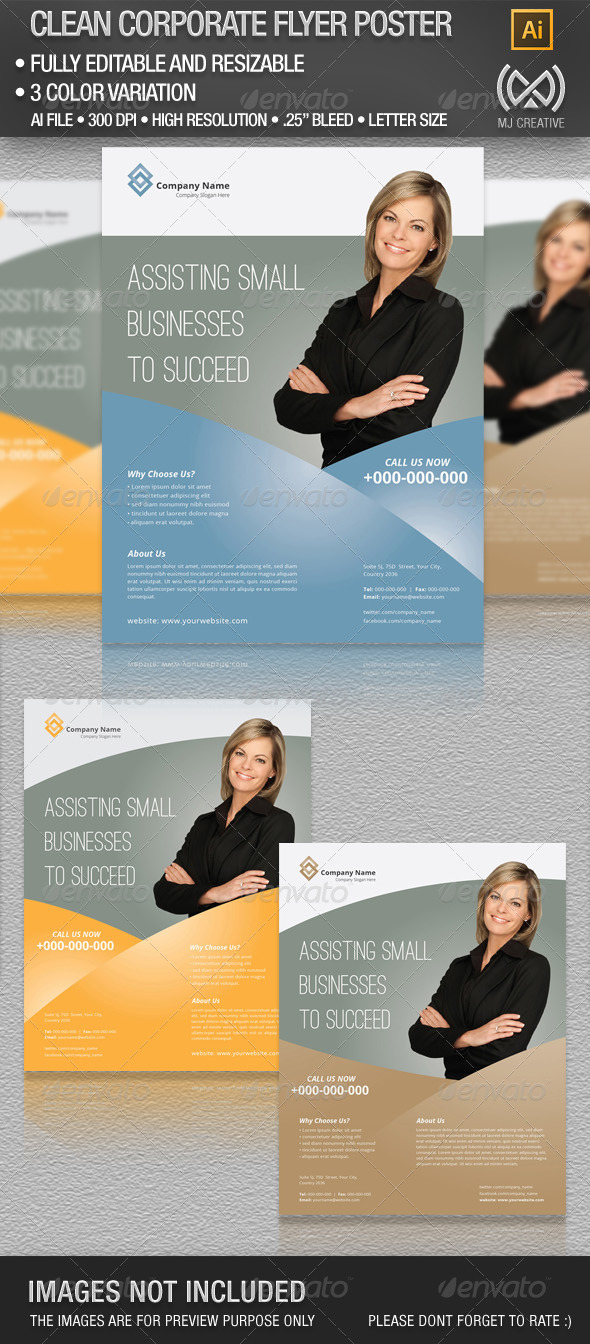 Clean Corporate Flyer Poster Set 2 - Corporate Flyers