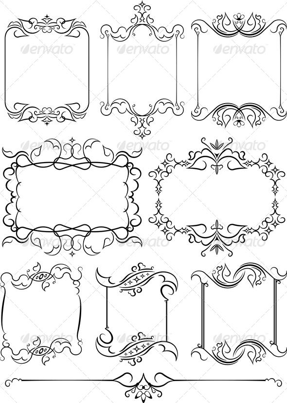 Set Of 8 Frames - Borders Decorative