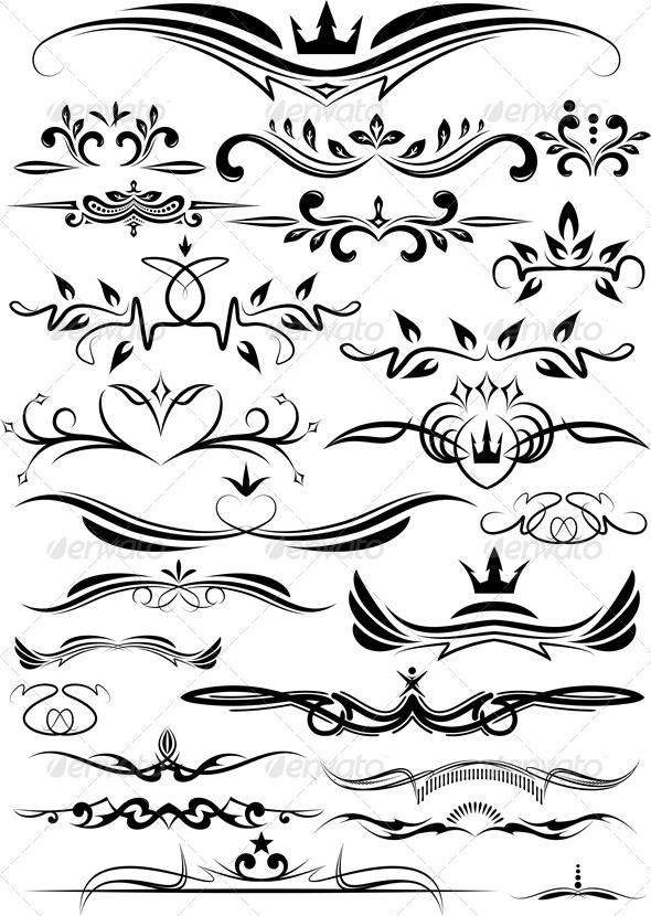 Many Design Elements - Decorative Symbols Decorative