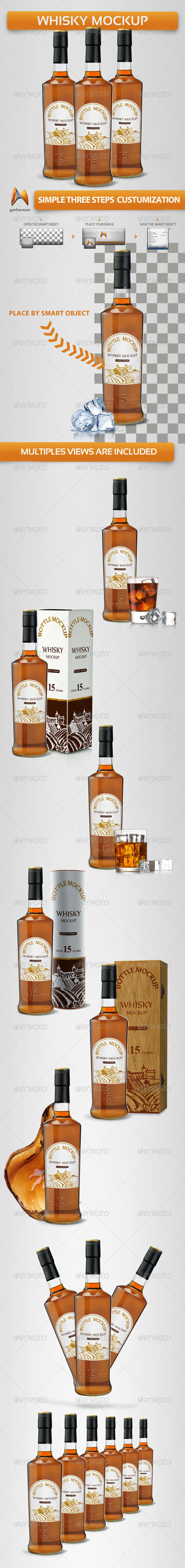 Whisky Mock-Ups - Food and Drink Packaging