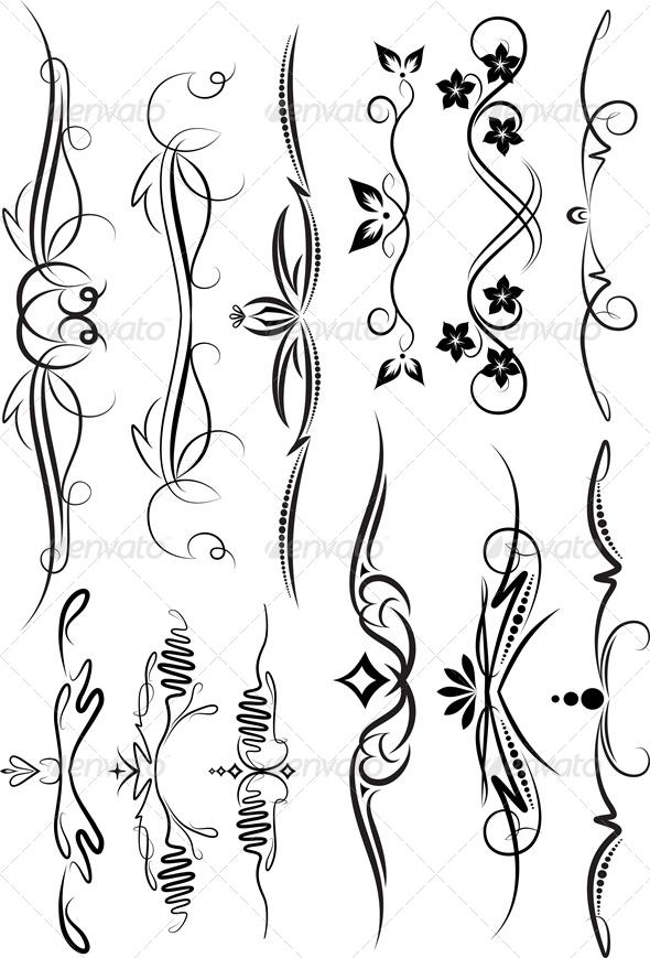 Set of Decorative Elements - Decorative Symbols Decorative
