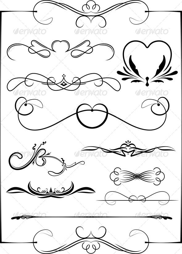 Set of 7 Frames - Borders Decorative