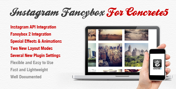 Instagram Fancybox For Concrete 5 - CodeCanyon Item for Sale
