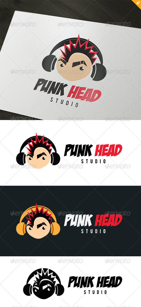 Punk Head Logo - Humans Logo Templates