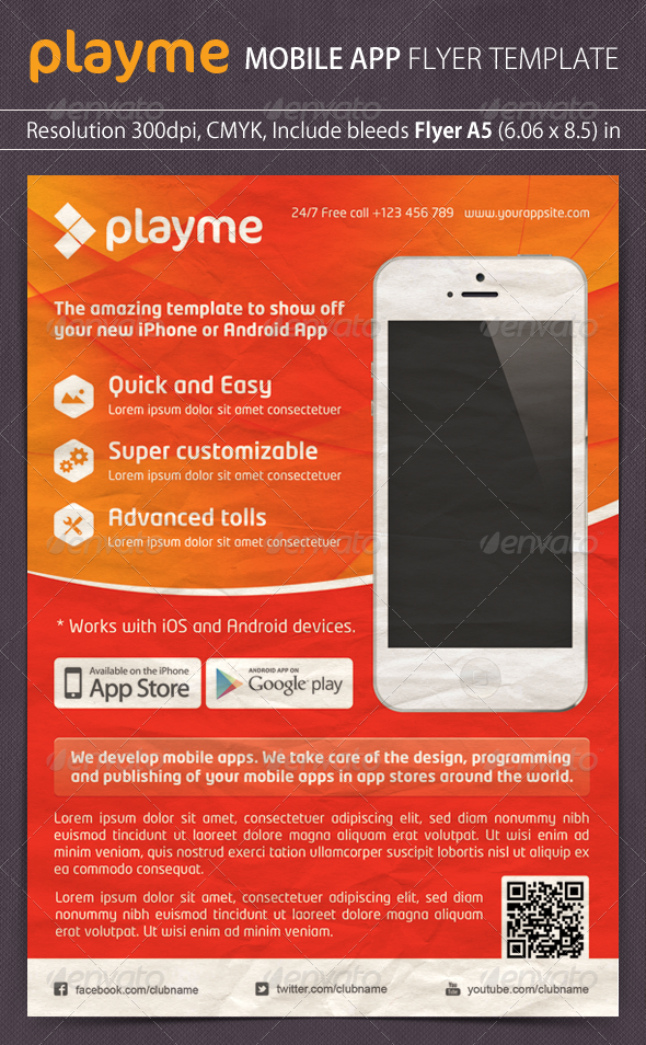 Playme App Promotion Flyer - Commerce Flyers