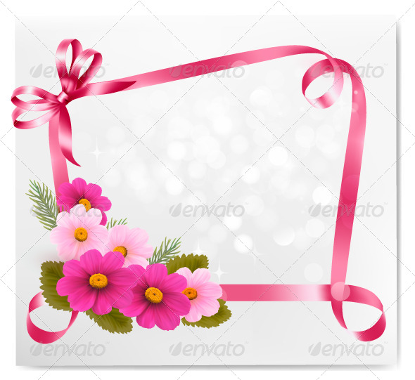 Holiday Background with Colorful Flowers  - Flowers & Plants Nature