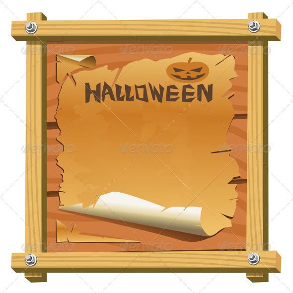 Vector Board in Halloween Theme - Halloween Seasons/Holidays