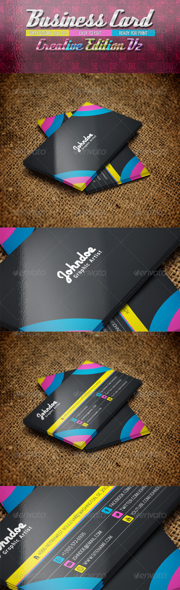 Business Card Creative Edition V2 - Business Cards Print Templates