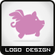 Flying Pig Logo - GraphicRiver Item for Sale