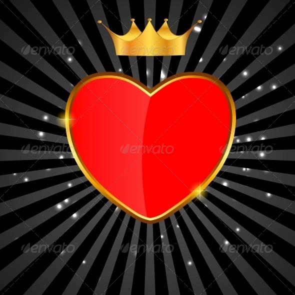 Valentines Day Love Heart Background - Decorative Symbols Decorative